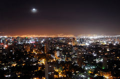 Mexico City by night. Skyline of Mexico City at night, shot from Colonio Polanco district towards northwest. The sky is unusually clear and free of smog because Stock Images