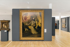 MEXICO CITY - NOV 1, 2016: Old Master within the Interior of Soumaya Museum Royalty Free Stock Images