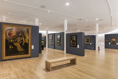 MEXICO CITY - NOV 1, 2016: Old Masters within the Interior of Soumaya museum Stock Image