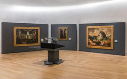 MEXICO CITY - NOV 1, 2016: Old Masters within the Interior of Soumaya Museum. The Museo Soumaya, designed by the Mexican architect Fernando Romero, is a private Royalty Free Stock Photography