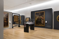 MEXICO CITY - NOV 1, 2016: Old Masters within the Interior of Soumaya Museum Royalty Free Stock Photo
