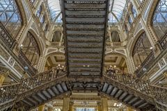 MEXICO CITY, MEXICO - NOVEMBER 5 2017- Historic Post office building. MEXICO CITY, MEXICO - NOVEMBER 5 2017- The Postal Palace was built at the beginning of the royalty free stock image
