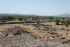 Mexico City. An overall view at the site of Teotihuacan on March 17, 2014 in Mexico City Royalty Free Stock Photos