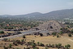 Mexico City. An overall view at the site of Teotihuacan on March 17, 2014 in Mexico City Stock Images