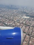 Mexico City. Sky airplane altitud royalty free stock photography