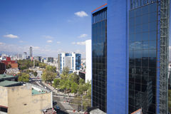 The mexico city skyline Stock Images