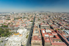 Mexico City skyline aerial view Royalty Free Stock Image