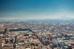 Mexico City skyline aerial view. stock photo