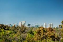 Mexico city skyline from Chapultepec castle Royalty Free Stock Photos