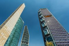 Mexico City skyscrapers Royalty Free Stock Photography