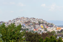 Mexico City Slum. Slum on top of a hill in Mexico City royalty free stock photography