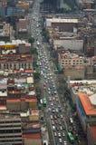 Mexico city street aerial view DF. Mexico city street traffic aerial view DF Royalty Free Stock Photos