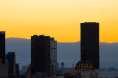 Mexico City Sunset Stock Image
