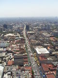Mexico City view. View over Mexico City, avenida REforma Royalty Free Stock Photo