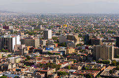 Mexico City View. Wide angle cityscape of Mexico City Royalty Free Stock Photo