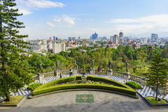 Mexico cityscape from Chapultepec Castle. Mexico City, FEB 17: Aerial cityscape from Chapultepec Castle on FEB 17, 2017 at Mexico City Stock Image