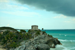 Mexico Coastline. Located close to Tulum, Mexico stock images