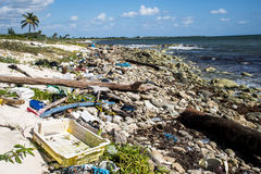 Mexico Coastline Pollution Problem 2 Royalty Free Stock Photo
