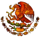 Mexico coat of arms Royalty Free Stock Photo