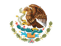 Mexico Coat of Arms Royalty Free Stock Photography