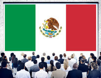 Mexico Country Flag Liberty National Concept.  stock photography
