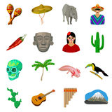 Mexico country set icons in cartoon style. Big collection of Mexico country vector symbol Stock Image