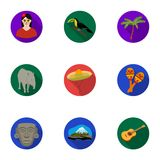 Mexico country set icons in flat style. Big collection of Mexico country vector symbol  Stock Photo
