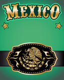 Mexico cowboy gold belt buckle vector design Royalty Free Stock Image
