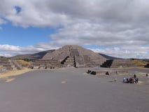 mexico De Piramides van Teotihuacan Mening aan Maan Piramid Royalty-vrije Stock Afbeeldingen
