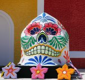 Mexico, dead of the dead skull stock images