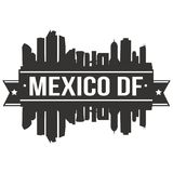 Mexico DF Mexico North America Icon Vector Art Design Skyline Flat City Silhouette Editable Template. A emblematic elements of this city, template vector icon Stock Images