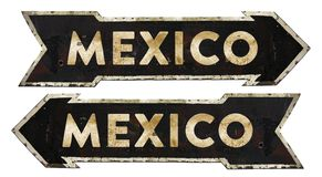 Mexico Directional Traffic Sign Vintage royalty free stock photos