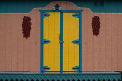 Mexico Door at Kodiak Alaska stock images