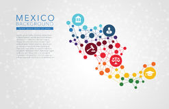 Mexico dotted vector background Royalty Free Stock Photo