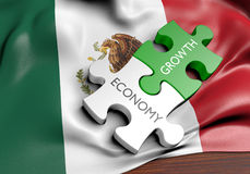 Mexico economy and financial market growth concept. 3D rendered concept of the Mexico economy and its financial market growth Royalty Free Stock Photo
