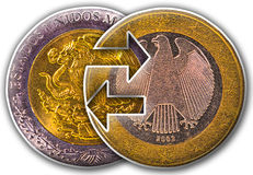 Mexico and Euro Globalization Stock Photo