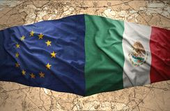 Mexico and European Union Stock Images