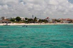 mexico för strandcarmemdel playa yucatan Arkivfoton
