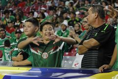 Mexico fans Royalty Free Stock Photography
