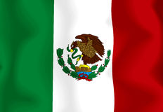 Mexico Flag. Flag of Mexico waving in the wind Vector Illustration