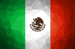Mexico Flag Abstract polygon background. Vector and illustration Royalty Free Stock Image
