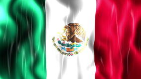 Mexico Flag Animation stock footage