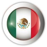 Mexico Flag Aqua Button Stock Photography