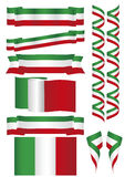 Mexico flag and banners Stock Photography