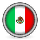 Mexico flag button Stock Images