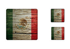 Mexico flag Buttons Stock Photography