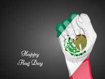 Mexico Flag Day background Stock Images
