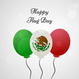 Mexico Flag Day background. Illustration of Mexico Flag for Mexico Flag Day Stock Image