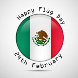 Mexico Flag Day background. Illustration of Mexico Flag for Mexico Flag Day Royalty Free Stock Photography