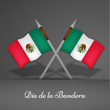 Mexico Flag Day background. Illustration of Mexico Flag for Mexico Flag Day Royalty Free Stock Images